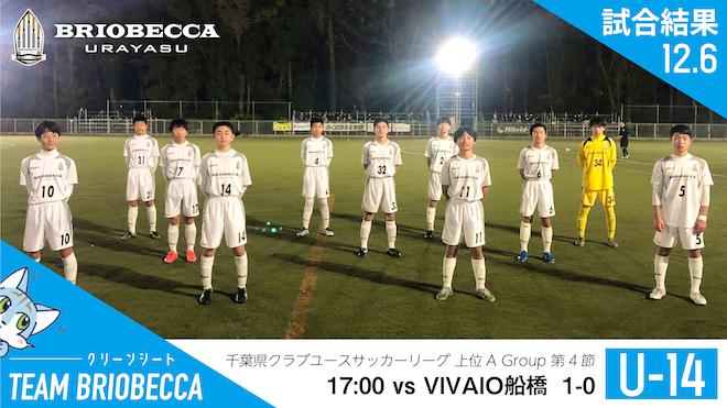 千葉県CYサッカーリーグ上位AGroup第4節 試合結果