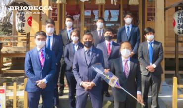 清瀧神社にて必勝祈願を行いました